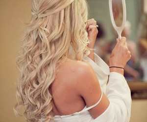 curl, girl, and style image