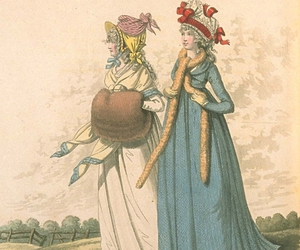 18th century, fashion illustration, and stole image
