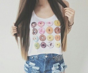 fashion, donuts, and hair image