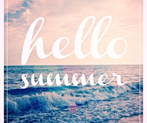 beaches, quotes, and hello summer image