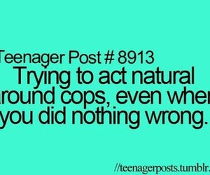 cops, teenager post, and lol image