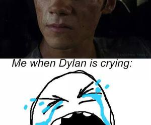 crying, teen wolf, and the maze runner image