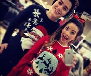 zoella, christmas, and couple image