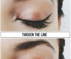 makeup, make up, and eyeliner image