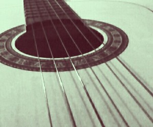 guitar, acoustic, and music image
