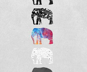big, colorful, and elephant image