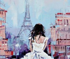 paris, girl, and art image
