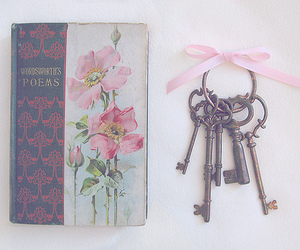 key, book, and poem image