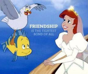 ariel, friends, and disney image