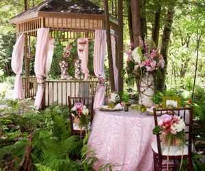 garden party, party, and table setting image