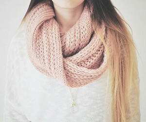 fashion, hair, and scarf image