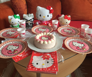birthday, cake, and hello kitty image