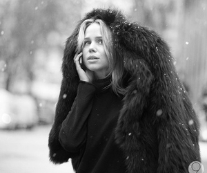 black and white, blonde, and fur image