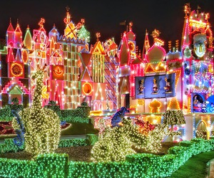disneyland, lights, and magic image
