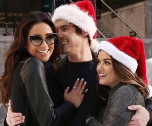 lucy hale, shay mitchell, and tyler blackburn image