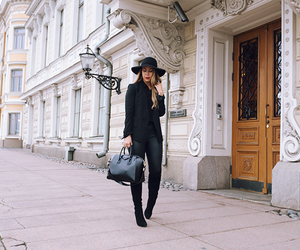 black, blogger, and hat image