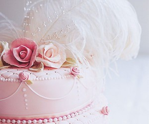 cake, pink, and beautiful image