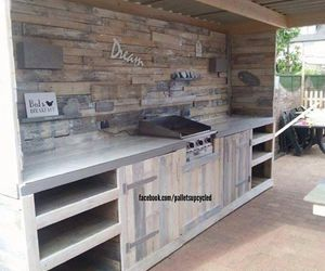 upcycled pallets, pallets kitchen, and pallets outdoor kitchen image