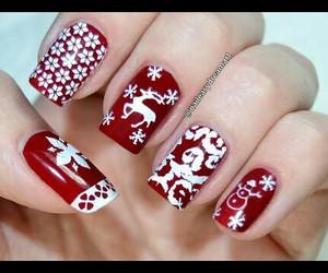 nails, christmas, and snow image