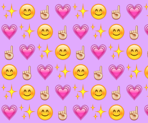 heart, purple, and pink image