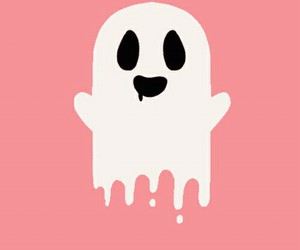 ghost, pink, and cute image
