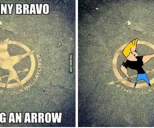Johnny bravo, hunger games, and funny image
