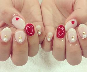 heart, nail, and nail art image