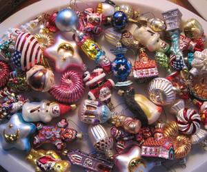 christmas, ornaments, and pink christmas image