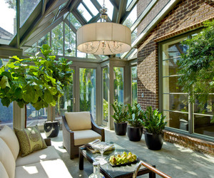 home, outdoor, and traditional sunroom image