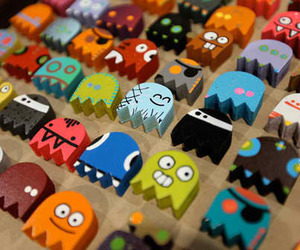 cute, pacman, and colorful image