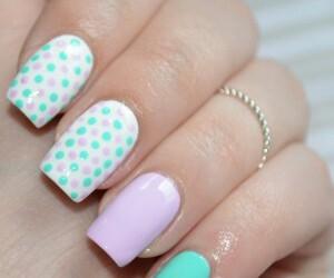 lavander, mint, and nail art image