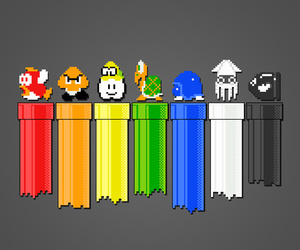 colors, geek, and rainbow image