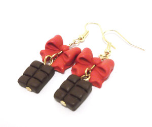 chocolate, clay, and earrings image