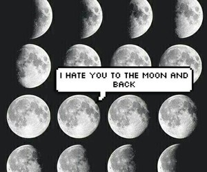 moon, hate, and grunge image