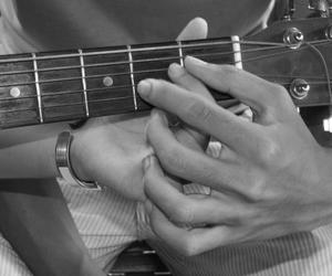 couple, guitar, and hands image