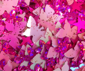 butterflies, pink, and background image