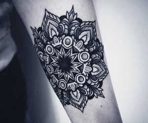 tattoo, mandala, and black image