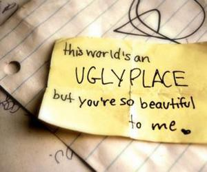 love, ugly, and quote image