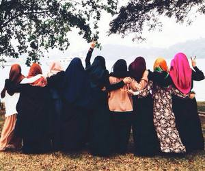 hijab, muslim, and friends image
