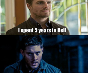 supernatural, arrow, and dean winchester image