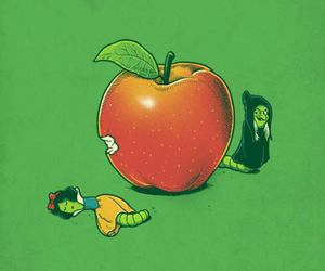 apple, snow white, and witch image