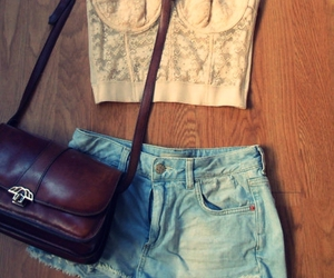 fashion, shorts, and bag image