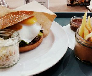 chips, egg, and food image