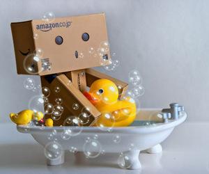 danbo, bath, and duck image