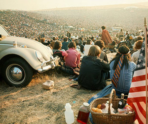 woodstock, hippie, and people image