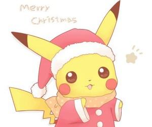 pikachu, christmas, and pokemon image
