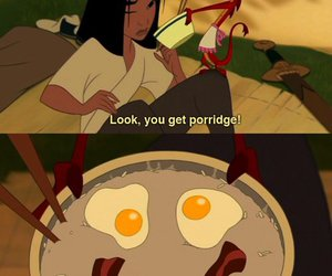 mulan, disney, and porridge image