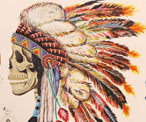 cool, tribal, and skull image