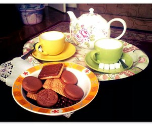 Cookies, enjoy, and tea party image
