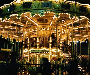 light, vintage, and carousel image